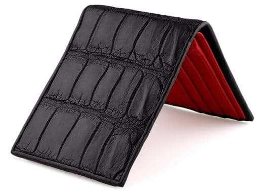 Alligator Wallet On Sale Classic Black Alligator Wallet