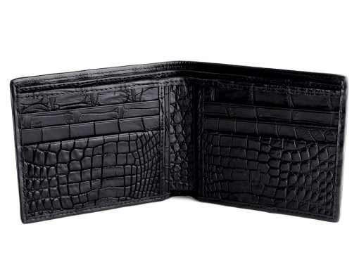 Black Cherry Croc Skin Wallet