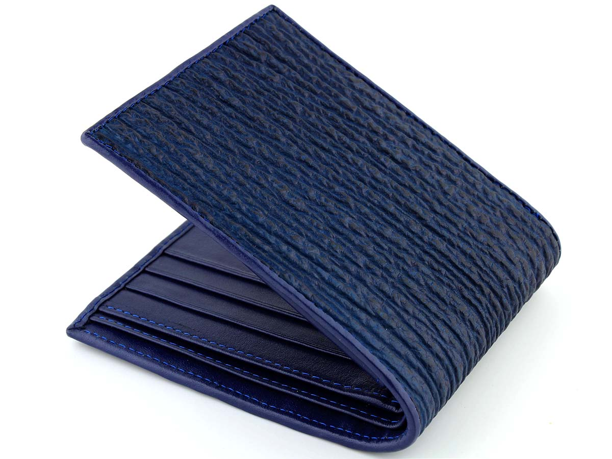 Blue Sharkskin Wallet