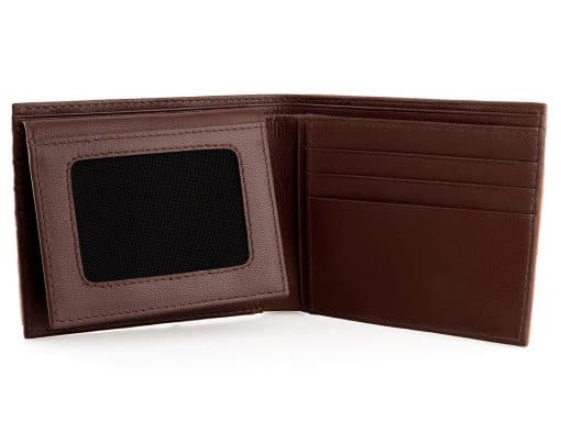 Croc Wallet On Sale Tan and Brown Goat Skin Interior