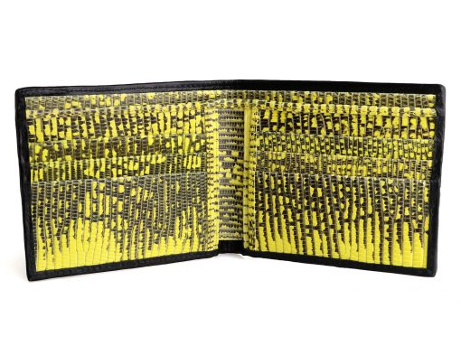 Croc Wallets On Sale Black and Yellow
