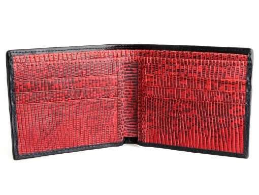 Crocodile Leather Wallet Black n Red
