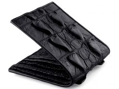 Crocodile Leather Wallet Mens Black Wallets