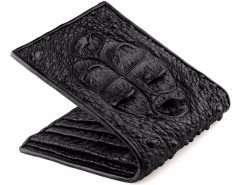 Crocodile Leather Wallet Mens Classic Wallet Black