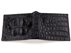 Crocodile Leather Wallet Mens Classic Wallet Black