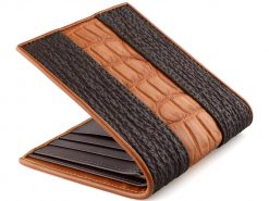 Crocodile Shark Series Wallet On Sale Brown n Tan