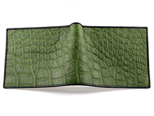 Crocodile Skin Wallet Green Crocodile Wallet