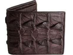 Crocodile Skin Wallets For Men Malt Brown