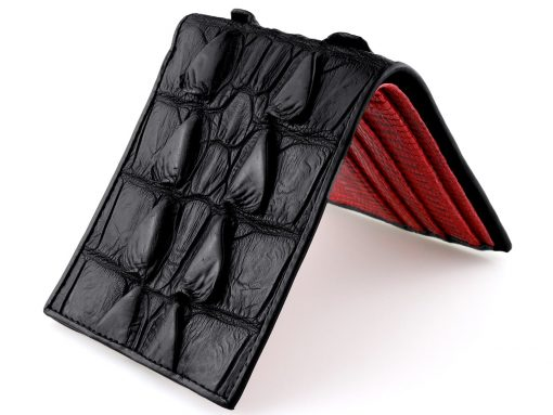 Crocodile Wallets Best Mens Wallet Black Croc Tail