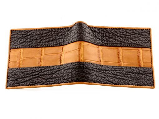 Crocodile Wallets Croc Leather & Sharkskin Wallet