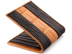 Crocodile Wallets Croc Leather & Sharkskin Wallet