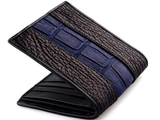 Custom Leather Wallets Croc and Shark Wallet