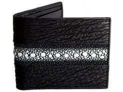 Custom shark stingray wallet for men