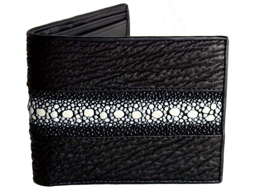 Custom shark stingray wallet for men