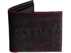 Funky Wallets Two Tone Ostrich Wallet Red