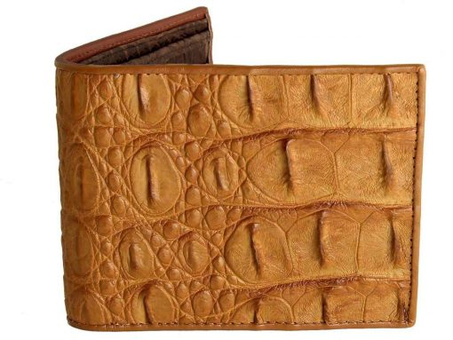 Genuine Croc Skin Wallets Tan