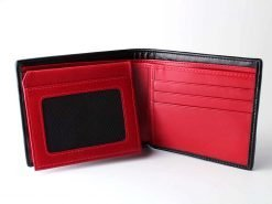 Gothic wallet sharkskin black