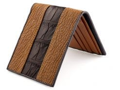 Leather Wallets for Men Croc Shark Skin