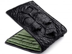 Mens Crocodile Leather Wallet