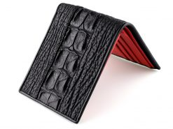 Mens Designer Croc Sharkskin Wallet