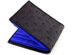 Mens Ostrich Wallet Black n Blue