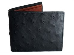 Ostrich Leather Wallet black