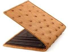 Ostrich Wallets Mens Luxury Ostrich Wallet Tan