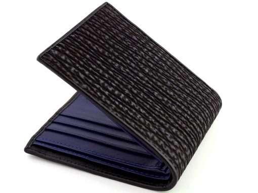 Shark Skin Wallet Black n Blue