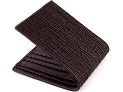 Shark Skin Wallet Brown
