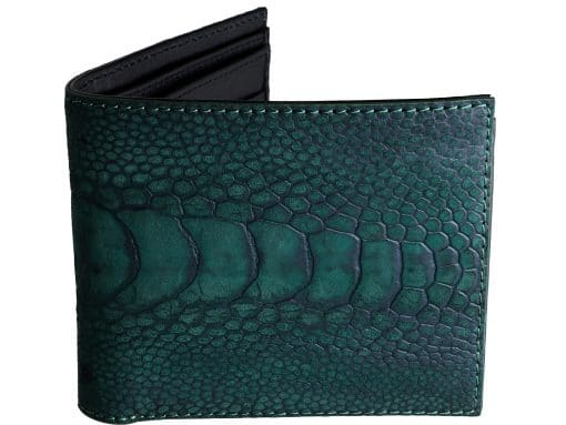 Wallet Ostrich Unique Wallets Green n Black