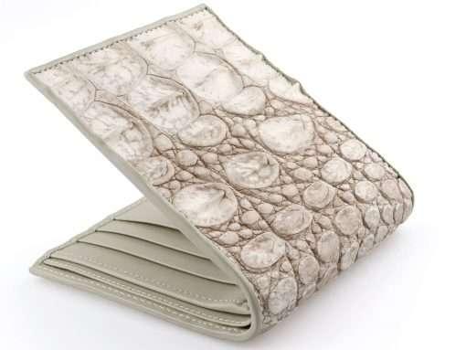 White Alligator Wallet Natural Bone Wallet