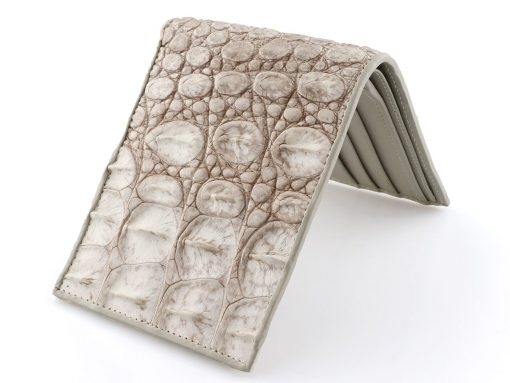White Alligator Wallet Natural Bone Wallet