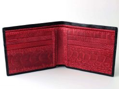 black red croc wallet promo