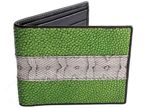 funky mens stingray wallets green snake