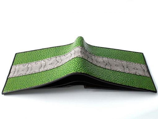 funky mens stingray wallets green snake