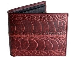 genuine ostrich wallet red n black