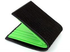 goth wallet sharkskin