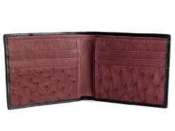Ostrich Leather Wallet black