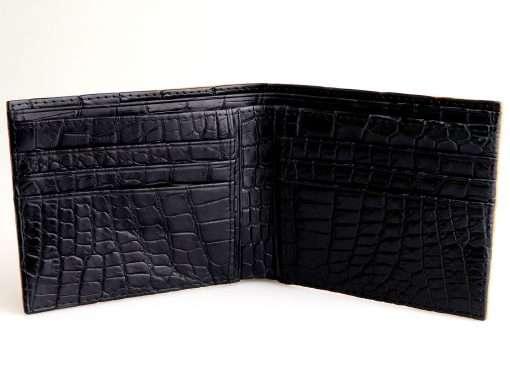 ostrich wallet on sale orange n black interior