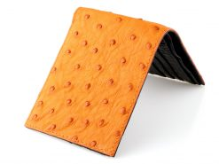 ostrich wallets genuine ostrich leather burnt orange