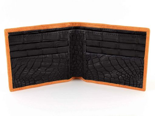 ostrich wallets vintage orange