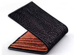 shark skin wallets black and orange