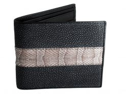snake leather wallet
