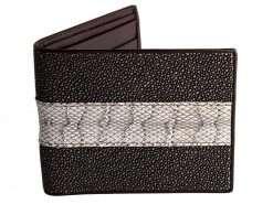 snake skin stingray wallet