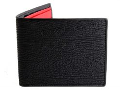 wallet sharkskin black red