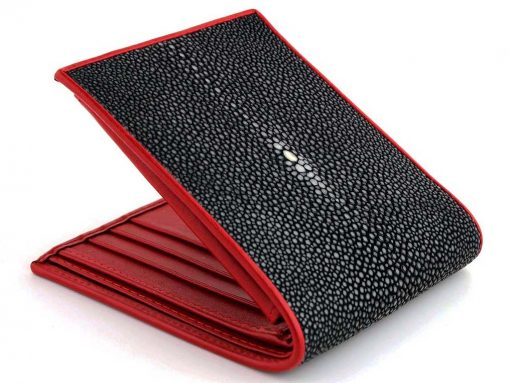 wallet stingray black n red